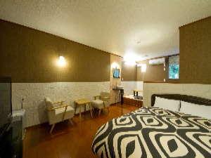 朝夕お部屋出しの宿 ポコアポコ:新館ジャグジー付客室(Bタイプ)シモンズのベッドで快適な眠りを プライベート重視の宿