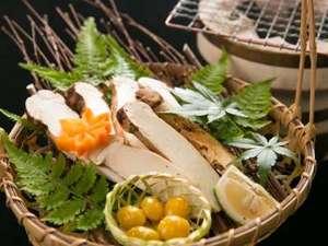 かんぽの宿阿蘇:一品料理「焼き松茸」