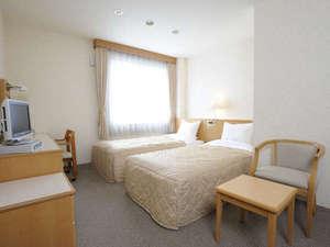 士別グランドホテル:シンプルで落ち着きのあるツインルーム