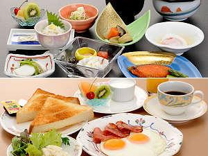士別グランドホテル:一日の始まりに温かくおいしい朝食をお召し上がりください。(和食・洋食からお選びいただけます。)