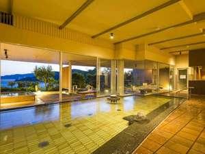 湯めぐり海百景 鳥羽シーサイドホテル:望館6階「風見の湯」(内湯・夕景)