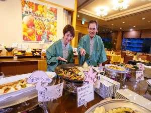 鹿教湯温泉 斎藤ホテル:お食事は、ご夫婦でお好きなものをお好きなだけ!!