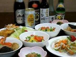 いわっぱらの湯 飯塚:夕食一例