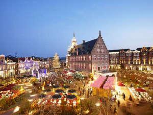 ホテルアムステルダム 【ハウステンボス ザ・スリーホテルズ】:ホテル目の前のアムステルダム広場
