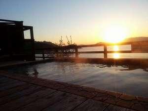 ホテルグリーンプラザ小豆島:夕日を見ながら入る露天風呂は最高!