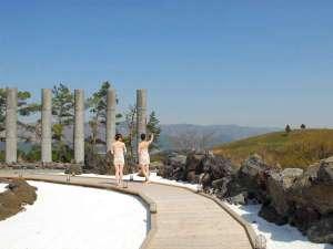 阿蘇ファームランド (阿蘇ファームヴィレッジ):【阿蘇健康火山温泉】広々とした露天風呂は心と身体を癒してくれます。