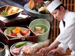 近江牛の水晶プレートの炭火焼きや彦根八寸の日本料理をお愉しみいただけます。