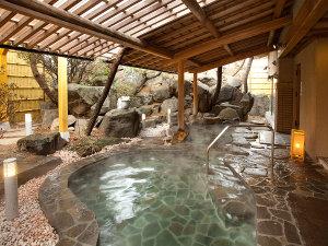 ぬのはん:温泉露天でゆっくり。夕・朝、4種の湯船をお楽しみいただけます。