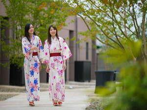大分温泉 Business Resort Sourin -宗麟-:色浴衣で館内をお散歩