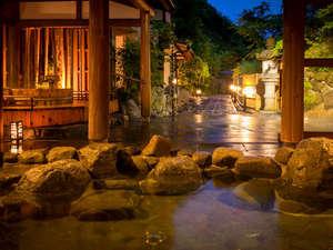 湯原温泉 湯めぐりの宿 松の家 花泉:館内の浴場はすべて一晩中、入浴できます