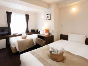 シティホテルロンスター:最大3名までご宿泊頂けるスタンダードツイン※ベッドは2台のみ