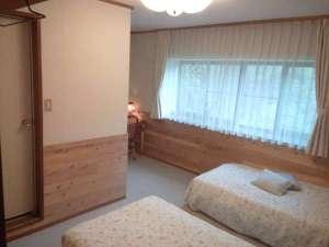 Garden House SARA:バストイレ付ツイン冬は床暖房も入ります