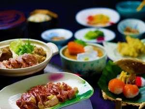 信州黄金軍鶏お料理(例)軍鶏肉は後からお鍋に追加しながらお召し上がり頂けます