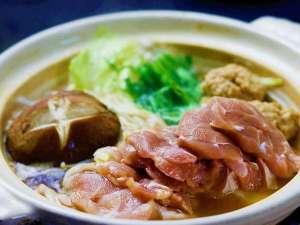 信州黄金軍鶏お料理(例)メイン料理=信州黄金軍鶏鍋