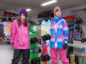 越後湯沢温泉 湯沢グランドホテル:【レンタルスキーショップ】最新モデルがそろっています!12月末~3月末頃まで。