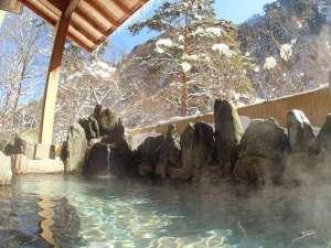 伊東園ホテル尾瀬老神 山楽荘:冬の露天風呂