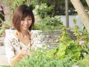 ホテル華翠苑:センスの良い庭園。手がけたのは、世界一に輝いたこともあるガーデニスト石原和幸氏。