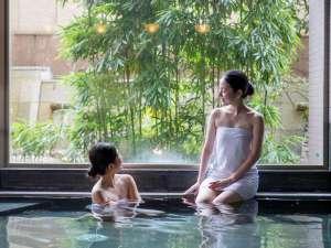 ホテル華翠苑:世界的アーティストが手掛けた庭園をのぞむ大浴場