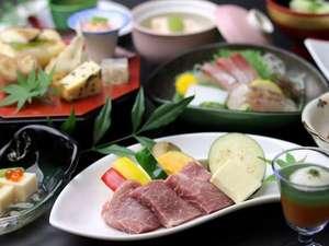 ジューシーな若楠ポークの陶板焼きをメインに佐賀の旬を味わう夏会席(6/1から9/15までの料理イメージ)