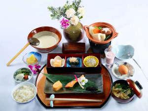 かやぶきの郷薬師温泉 旅籠:朝食(和食)