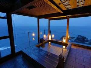 海のほてる いさば:【貸切露天風呂】駿河湾と富士山・夕日をご覧になれる貸切風呂「夕日のかがやき」