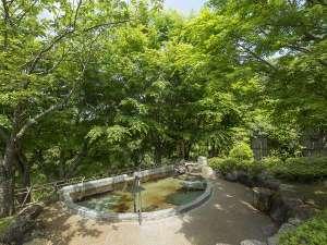 養老温泉 秘湯の宿 滝見苑:新緑が美しい叶いの湯