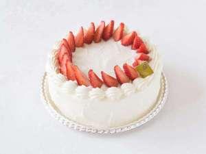 【アニバーサリーケーキ】お祝いのメッセージプレートを乗せてお部屋へお届けします(3日前までの要申込)