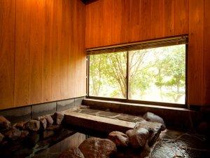 湯布院 塚原高原 山荘 どんぐり:【桜草】岩風呂(外湯)内湯有り