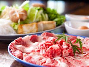 湯布院 塚原高原 山荘 どんぐり:◆【豊後牛すきやき】ご当地ブランドの豊後牛を贅沢にすき焼きで召し上がれます!