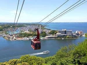 ホテル ウェルシーズン浜名湖:【かんざんじロープウェイ】日本唯一♪湖上を渡るロープウェイ!浜名湖・舘山寺の絶景を!