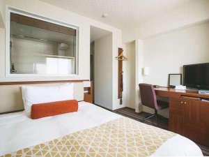 中島屋グランドホテル(旧 静岡グランドホテル中島屋): スタンダードルーム◆ベッド幅1400mm◆シモンズマットレス