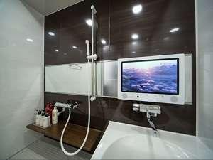 アーヴェストホテル蒲田(東口):デラックスツインルームは浴室にテレビがございます!