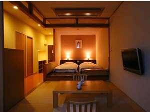 信州野沢温泉 野沢グランドホテル ~絶景露天風呂の宿~:◆客室◆モダンな造りの露天風呂付き客室(Bタイプ)