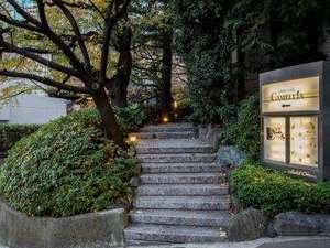 【別館1階】竹の道入口 神谷町方面から別館ロビーへの近道