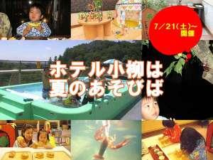 新潟・湯田上温泉 ホテル小柳:~遠くの名湯より近くのいい湯~★ホテル小柳は夏のあそびば!!