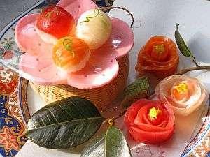 岩手の名湯 侍の湯 おもてなしの宿 おぼない:◆春の鞠寿司◆桃の節句にはこんなに可愛らしい鞠寿司も楽しんで頂けます。