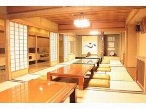 まつしま香村:1階大広間は朝食会場にもなります