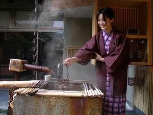 源泉かけ流し 大人の湯宿 つるや:温泉玉子作り体験・温泉玉子をご自分で作って召し上がっていただけます。15:00~19:00限定