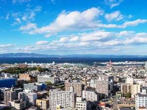 ホテル日航大分 オアシスタワー(旧:大分オアシスタワー):お昼の景色(海側)