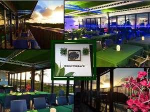 ザ・ペリドットスマートホテル タンチャワード:オーシャンビューのレストランは天気のいい夕方にはきれいな夕日が眺められ夜はライトアップされます。