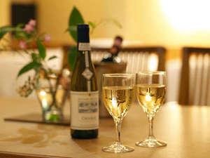 ハーフボトルワインをお部屋で~特典付きプランあります