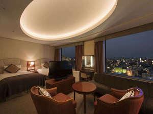 札幌プリンスホテル:札幌の夜景が魅力的☆デラックスツインルーム(42㎡)