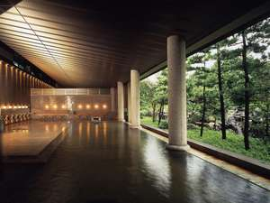 ホテル 花水木:瀧の湯/男性用内風呂。アルカリ性単純泉です