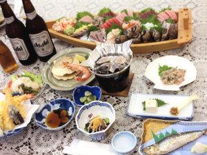エンヂ荘:*舟盛りやご宴会料理の別注文も承っております。ぜひご相談下さい。