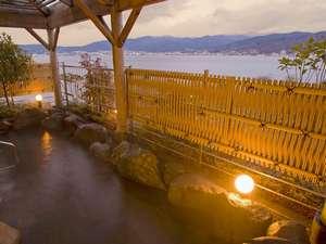 上諏訪温泉 RAKO華乃井ホテル:露天風呂~諏訪湖の風を感じながら
