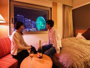 ナビオス横浜:■『これぞ横浜!』非日常へのトリップ。お部屋でゆっくりふたりだけの夜景を堪能♪■
