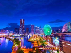 ナビオス横浜:■景色■煌びやかにライトアップされた大観覧車をはじめ、光で彩られた高層ビル群などの極上夜景を