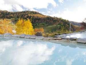 万座プリンスホテル:紅葉の露天風呂