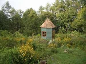 ペンション アルペンフローラ:【夏の庭】アルペンフローラ自慢の1500坪のガーデン♪