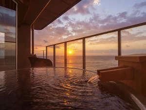 海一望 絶景の宿 いなとり荘:6階確約♪温泉掛け流し露天風呂付客室【星辰】は海と対座する絶景の眺め